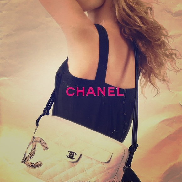 CHANEL Handbags - ✨VINTAGE✨CHANEL Cambon Python Quilted Camera Bag